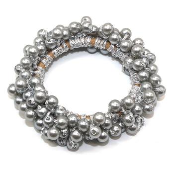 14 Colors Woman Elegant Pearl Hair Ties Beads Girls Scrunchies Rubber Bands Ponytail Holders Hair Accessories Elastic Hair Band 8