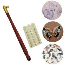 Crochet de Tambour avec 3 tailles d'aiguilles, Crochet d'aiguille de broderie de perles, outils de tricot de couture de perle domestique