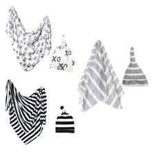 Комплект из 2 предметов для малышей: одеяло + шапочка пеленка