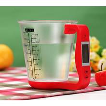 2019 Multifunction Milk Powder Electronic Measuring Cup With LCD Display Temperature Measurement Cups Baking Kitchen Scales(China)