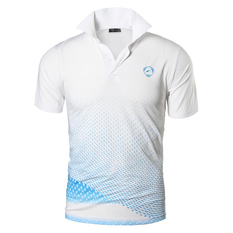 jeansian Men's Sport Tee   Polo   Shirts   POLOS   Poloshirts Golf Tennis Badminton Dry Fit Short Sleeve LSL195 WhiteBlue