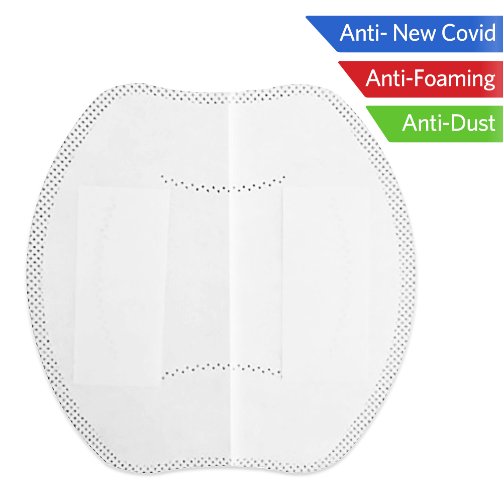 1pc Mask Respirator Filter Pad Disposable Smog Prevention For All Face Masks