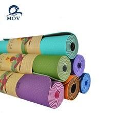 1830*610*6 мм экологически чистый двухслойный Коврик для йоги