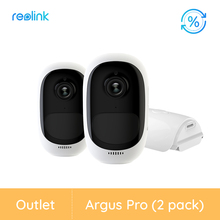 [تجديد كاميرا 2 حزمة] Reolink البطارية IP كاميرا 1080P في الهواء الطلق كامل HD طقس داخلي الأمن WiFi فيديو أرجوس برو