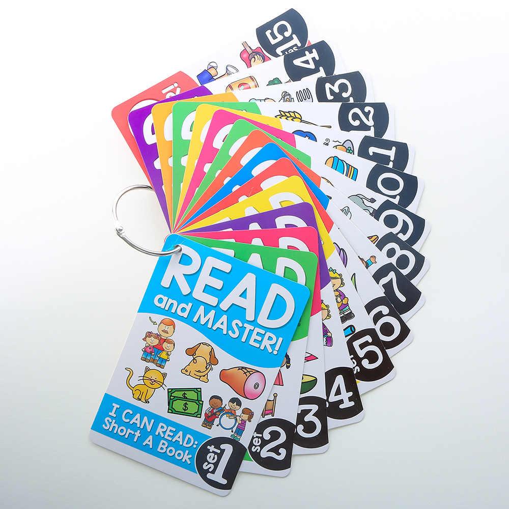 107 grupos/set Roots Inglés fonética tarjetas Flash niños Montessori aprendizaje juguetes educativos para niños enseñanza SIDA Tarjeta de bebé