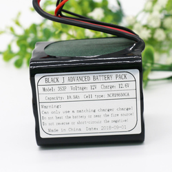UAV Rechargeable 12V Li-ion Battery Pack 11.1V / 12.6V10.5Ah 3S3P Use Single Cell NCR18650GA Combination for Different Drone