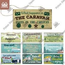Putuo Decor Caravan Signs Wooden Plaques Signs Decorative Plaques for Living Home Door Decor Room Decoration Camping Supplies