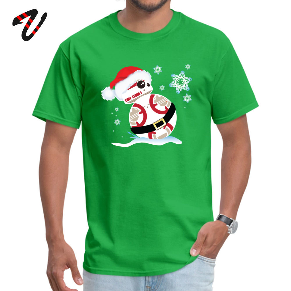 <font><b>Star</b></font> <font><b>Wars</b></font> <font><b>Tshirt</b></font> Men Merry <font><b>Christmas</b></font> <font><b>Stars</b></font> With BB T-shirts Short Sleeve Luxury Fashion Summer Tops T Shirt 100% Cotton Fabric image