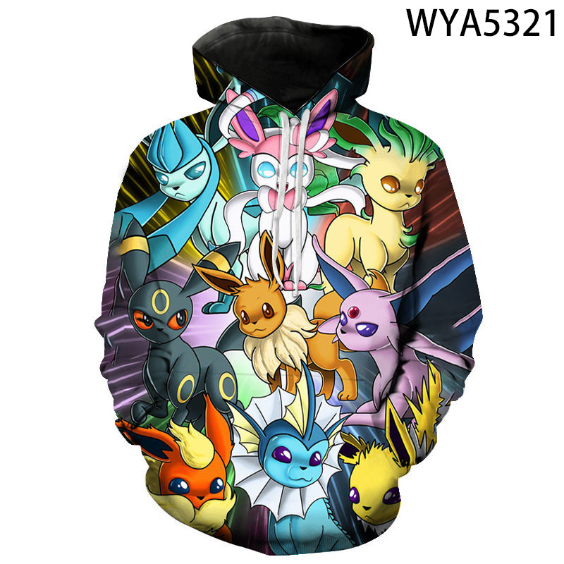 New Fashion Casual Games Pokemon Men Women Children Hoodies 3D Printed Pullover Long Sleeve Sweatshirts Boy Girl Kids Cool Coat 1