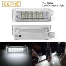 2x projektor drzwi samochodu LED dzięki uprzejmości wnętrze bagażnika bagażnika lampa światła dla BMW E90 E92 E93 E60 E70 E82 E87 X1 X3 X5 X6