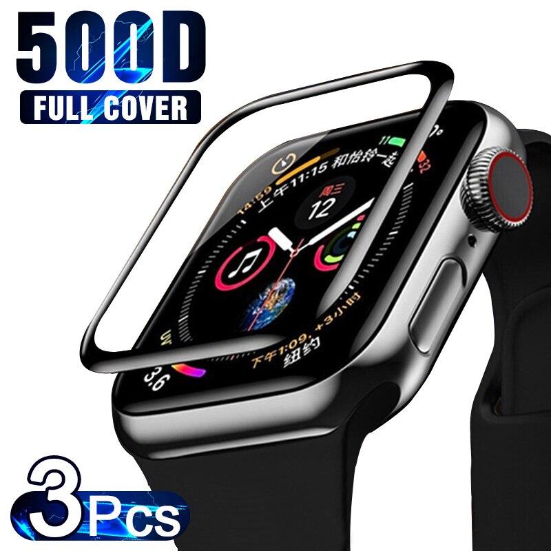 Защитное стекло с полным покрытием для Apple Watch Series 6 se 5 4 3 2 1, пленка для экрана iWatch 38 мм 40 мм 42 мм 44 мм, 3 шт.