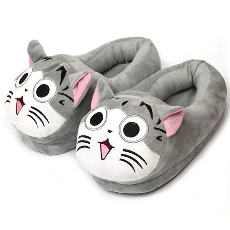 Hacos Plush Winter Warm Cartoon Animal Home Slippers for Women and Kids