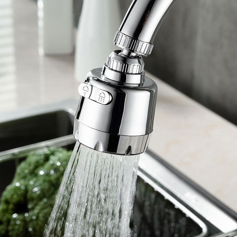 360 Degree Rotary Innovative Kitchen Faucet Stainless Steel Splash-Proof Universal Tap Shower Water Rotatable Filter Sprayer