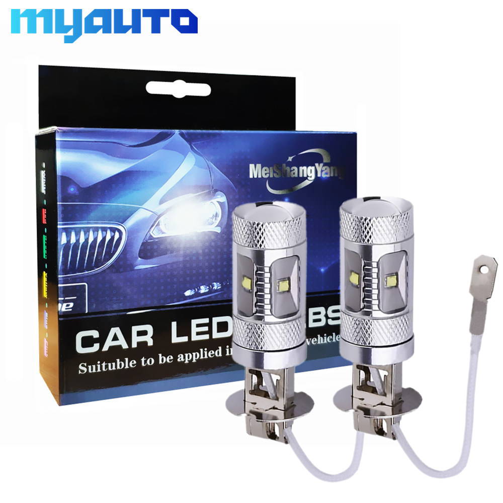 2Pcs Car Lights <font><b>Cree</b></font> <font><b>Led</b></font> Chip <font><b>H3</b></font> 5 <font><b>LED</b></font> Driving Lamp cars Fog Head Bulb auto 12V Lights car light source 30W image
