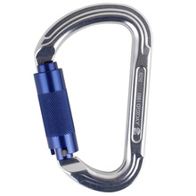 TOP!-Professional Master Lock Pear-Shape Screw Gates Buckle Carabiner Rock Climbing Equipment Outdoor 30Kn