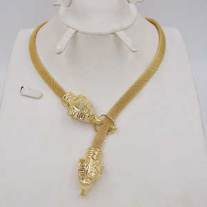 Image 4 - High Quality Dubai Gold color Jewelry Set For Women african beads jewlery fashion necklace set earring jewelry