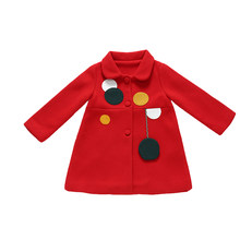 2019 Kids Girl Overcoat Winter New Fashion Wool Coat for Girls Teens Autumn Jacket Warm Long Outerwear Children Windproof 8(China)