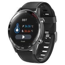 2020 Smart Bluetooth Watch Body Thermometer Measurement Blood Pressure Heart Rate Blood-Oxygen Tracker Waterproof Sport Bracelet