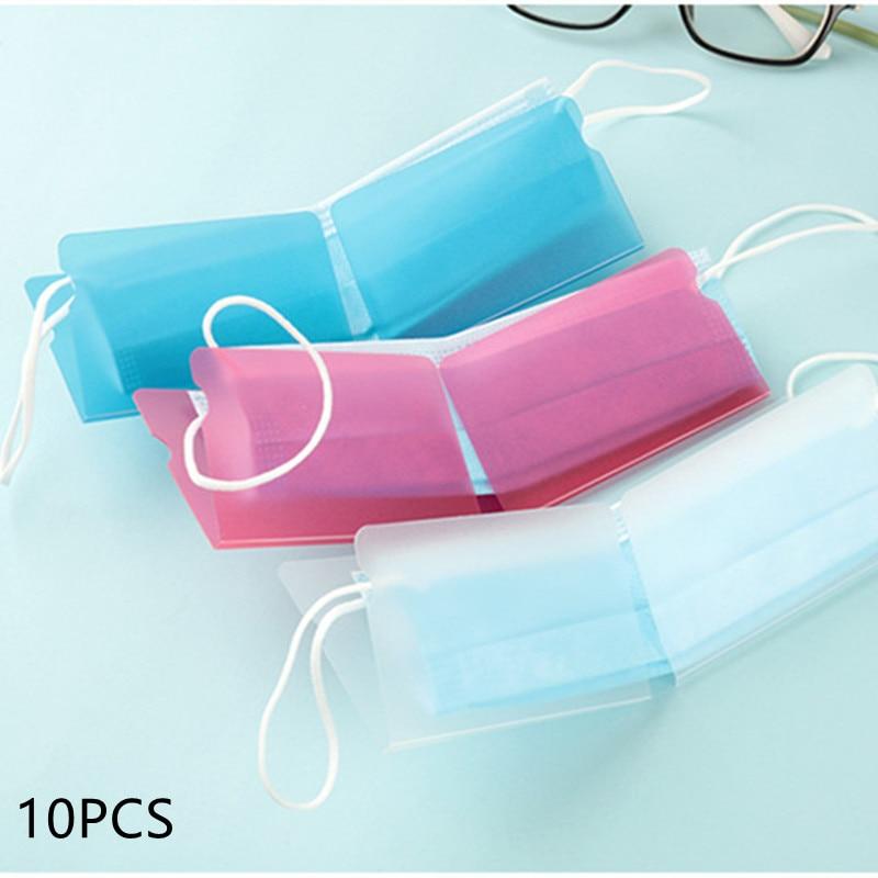 2020-10pcs-pp-mask-storage-folder-foldable-temporary-storage-box-portable-plastic-bag-safe-storage-box-unisex-mask-storage-clip