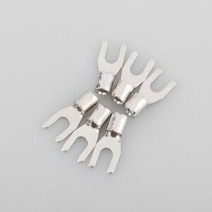 Image 3 - VIBORG VP201 Puro Rame placcato Rhodium di Alta end Connettore di Alimentazione per Y terminal Lug 6 pz/set