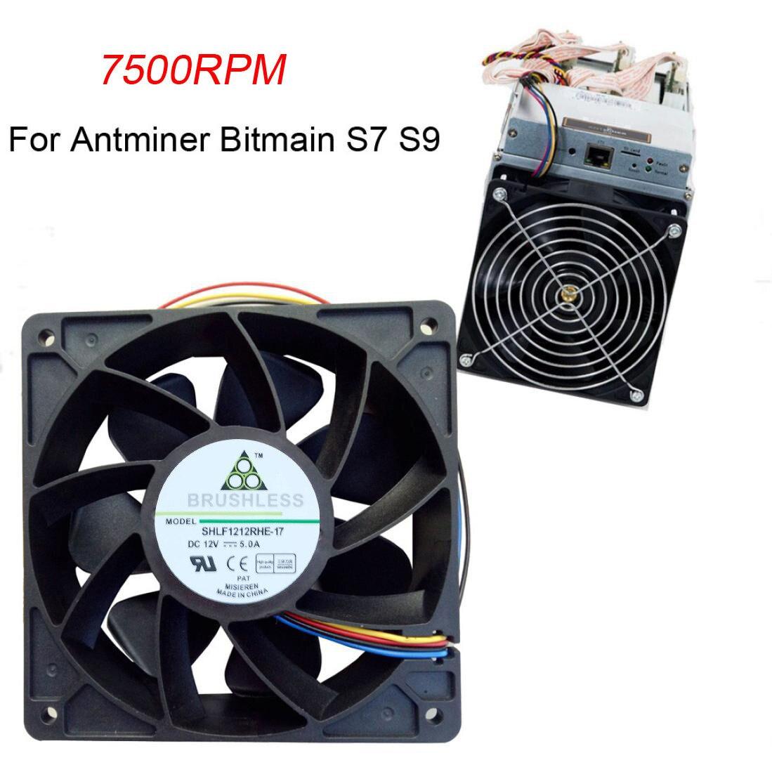 7500 Вентилятор охлаждения Замена 4-контактный разъем для Antminer Bitmain S7 S9 радиатор охлаждения Ventilador PC Кулер Мастер