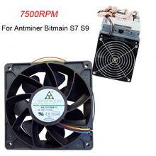 7500rpm substituição do ventilador de refrigeração conector de 4 pinos para antminer bitmain s7 s9 ventilador de refrigeração do radiador