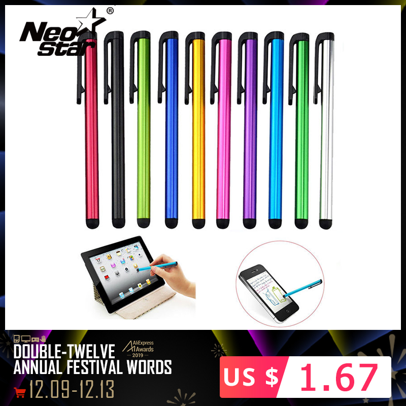 10pcs/lot Capacitive Touch Screen Stylus Pen For IPad Air Mini 2 3 4 IPhone 4s 5 6 7 Samsung Universal Tablet PC Smart Phone