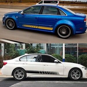 Image 3 - Adesivi laterali Auto per Audi BMW Ford Volkswagen Toyota Renault Peugeot Mercedes Honda Mini Auto vinile pellicola accessori Tuning Auto