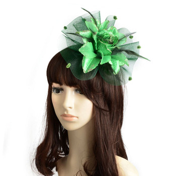New Ladies Fascinator Floral Feather Sinamay Fasinator Women Hair Accessories Elegant Fascinators Adult Wedding Races Tovenaar image