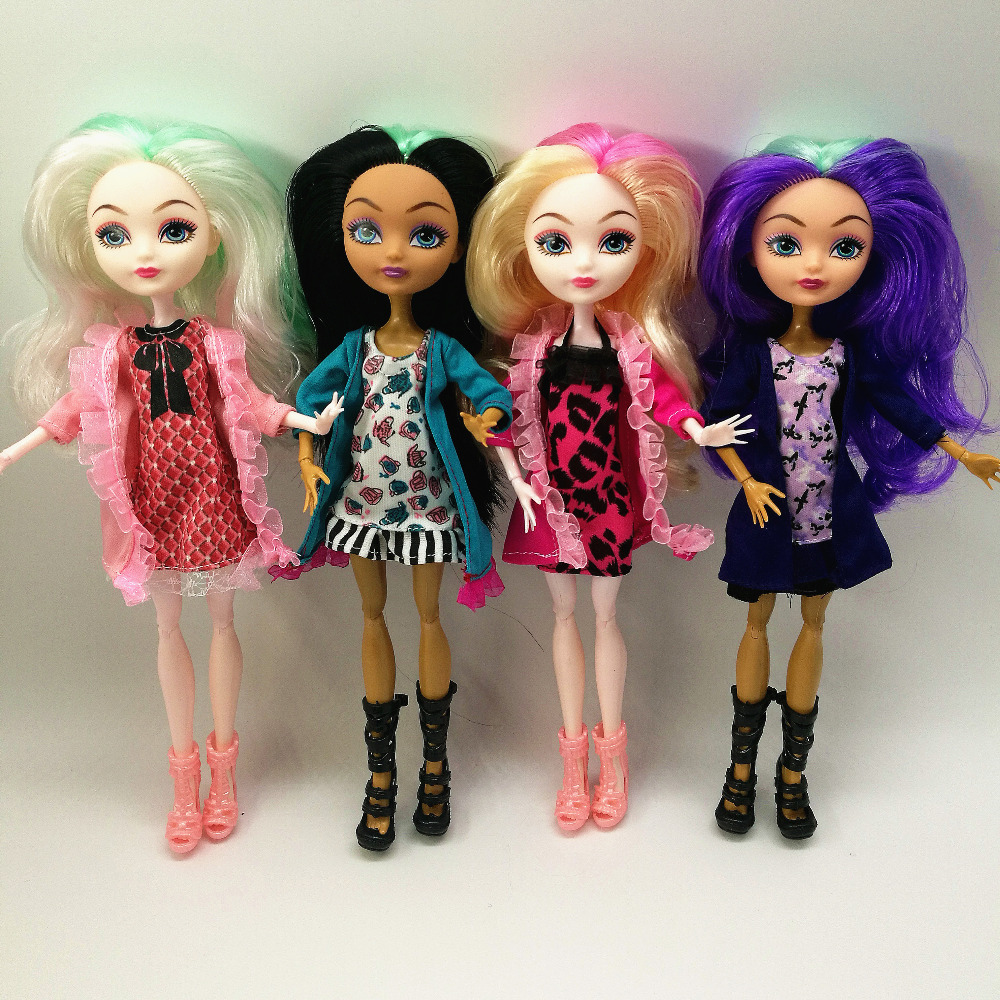 4 pcs/Set Dolls Ever After Doll Fashion Monster Doll High Quality Moving joint For <font><b>BJD</b></font> dolls reborn baby toys gift for girl image