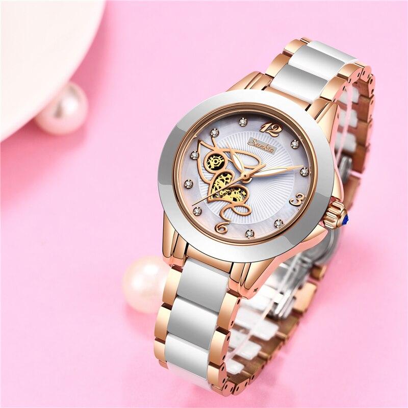 Image 3 - SUNKTA Simulation Quartz Women Watches Top Brand Luxury Simple Clock Women Girl Bracelet Diamond Watches Ladies Relogio Feminino-in Women's Watches from Watches