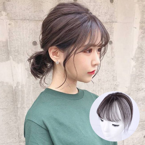 HOUYAN 3D bangs invisible no trace tiara female short 100% real hair wig bangs adult female BB clip hair accessories