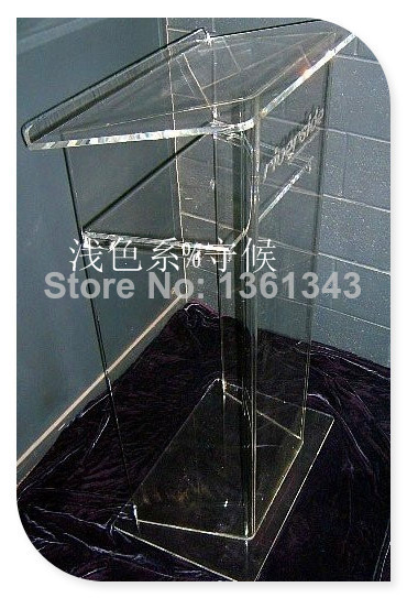 Hot SellingClear Acrylic Lectern Stand Clean Acrylic Podium Pulpit Lecternacrylic Pulpit