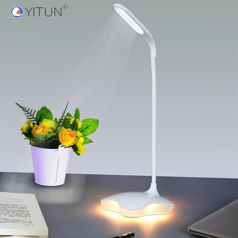 LED Desk Lamps Reading Pro Led Touch Usb Chargeable Power 3 Level  Led Lightning Battery Reading Light Night Sleep Warm