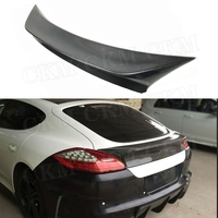 Carbon Fiber Rear Spoiler For Porsche Panamera S 970.1 Spoiler 2009 2013 VRT Style FRP Trunk Boot Trim Wings Car Styling