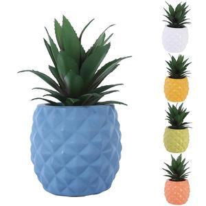 1 шт. искусственный; В горшке растение ананас бонсай сад офис настольный домашний декор
