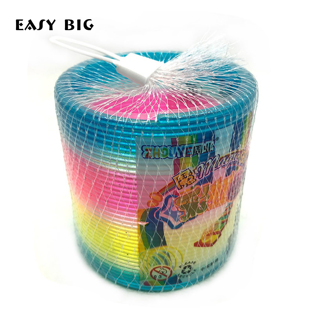 EASY BIG Science Magic Plastic Rainbow Spring Colorful New Children Funny Classic Toy Learning Toys For Children NR0043