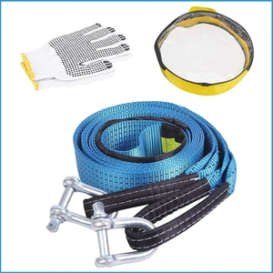 Image 5 - BENOO 5M/4M/3M 8T Universal Tow Rope Recovery Strap High Strength Towing Strap with Two Safety Hooks & Reflective Strip Gloves