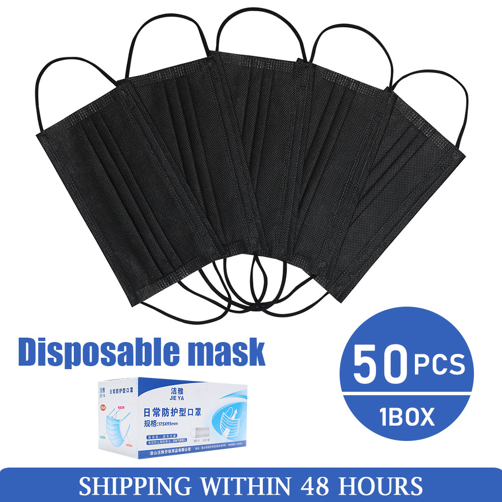10/20/50/100pcs Mask Mouth Face Mask Non Woven Disposable Earloops Masks