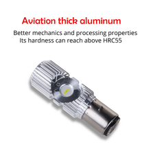 led headlight Double eye energy saving car bulb electric lamp motorcycle BA20D H6 interface