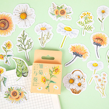 Mohamm 45Pcs Daisy Decorative Sticker Books Scrapbooking DIY Note Paper Sticker Flakes Stationary Office Accessories Art Supplie