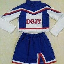 Спортивная одежда для детей; костюм Болельщицы Болельщица для девочек; костюм для костюмированной вечеринки; спортивная одежда