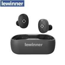 Lewinner V5 twsワイヤレスイヤホン防水hifiヘッドセットのbluetooth 5.0イヤフォンノイズキャンセルゲームスマートフォン電話