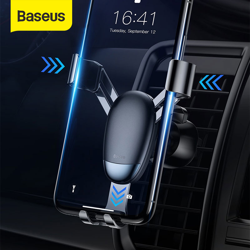 Baseus Gravity Car Holder For IPhone X XR Xs Max Air Outlet Mount Holder For Mobile Phone Car Smartphone Support Phone Holder