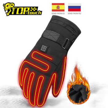 Waterproof Motorcycle Gloves Heated Guantes Moto Heating USB Hand Warmer Electric Thermal Heated Gloves Battery Powered Gloves electric thermal gloves winter usb hand warmer cycling motorcycle bicycle ski gloves rechargeable battery heated gloves