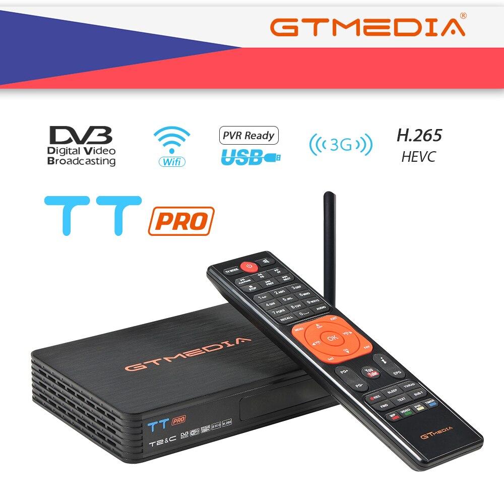 GTMEDIA TT Pro DVB-T2 DVB-C Combo Satellite Receiver Support FULL HD 1080P+2 Year CCCAM for Spain Czech Republic Russia receptor