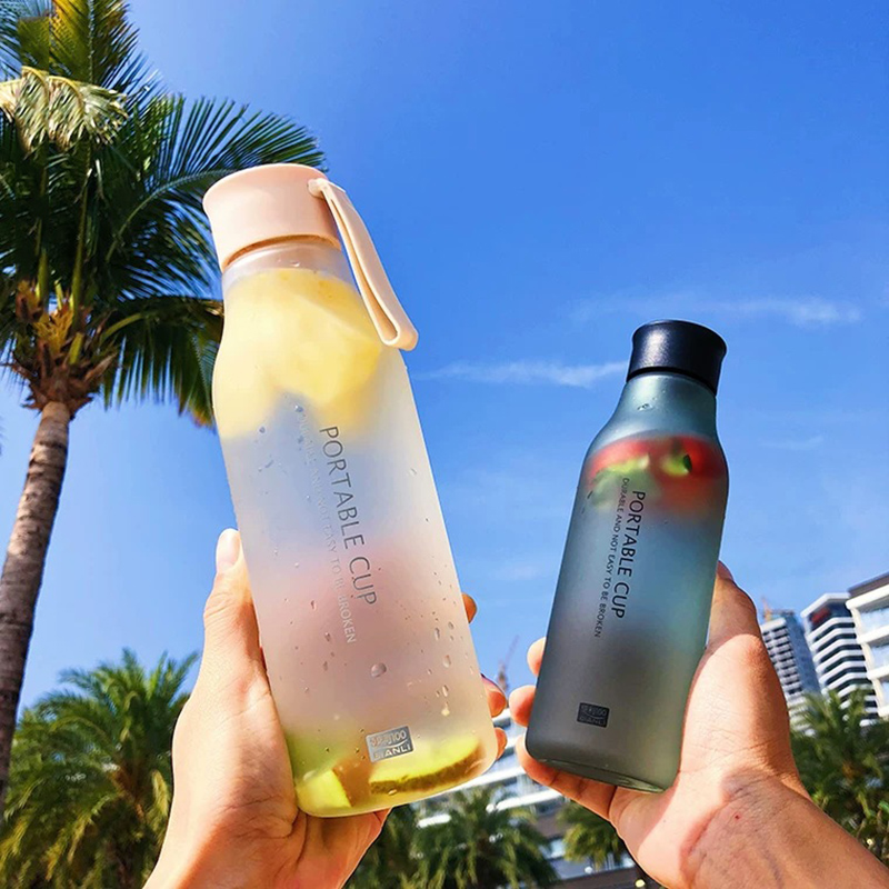 Kettle 550ML plastic water dispenser travel student outdoor sports school portable leak proof cup drinking water bottle|Water Bottles|   - AliExpress
