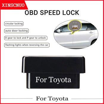 Car OBD Speed Lock Plug And Play For Toyota Corolla/Prius/Auris/RAV4/Camry/Yaris/Land Cruiser/Prado/Vios/CHR/Levin OBD Door Lock car generator diode rectifier bridge for toyota camry 90a corolla corolla vios 2 0 2 4