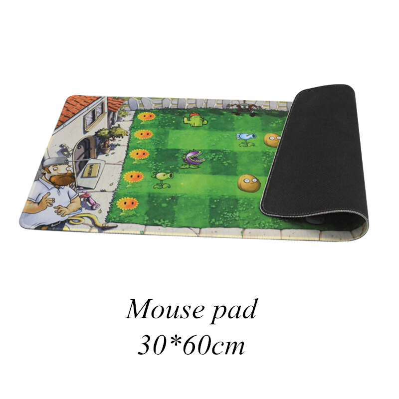 Gaming Mouse Pad Large Mouse Pad Gamer Big Mouse Mat Computer Mousepad Natural Rubber Keyboard Desk Mat Plants Vs. Zombie