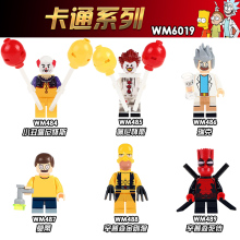 купить WM6019 Single Sale Model Super Heroes The Clown Pennywise Rick Morty Wild Deadpool Building Blocks Figure Children Gift Toys в интернет-магазине